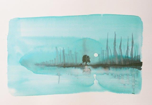 Rest. inkpaper 12x17''