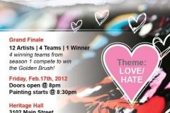 Golden Brush Art Events_Battle of the Brush 5_Love Hate