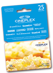Cineplex Gift Card Winner