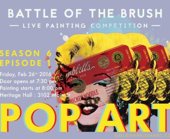 "Battle of the Brush 27:  Season 6 Opening Show:  ""Pop Art"""