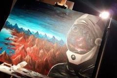dark matter team 1 painting