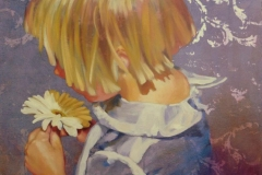 Louise Nicholson_Flower Girl_16x20_mixed media
