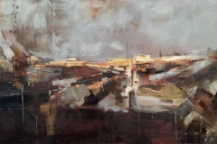 Louise Nicholson_It Caught My Eye_mixed media on canvas_18x36