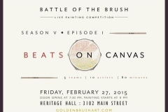 Golden Brush Art Events_Battle of the Brush 22_Beats on Canvas