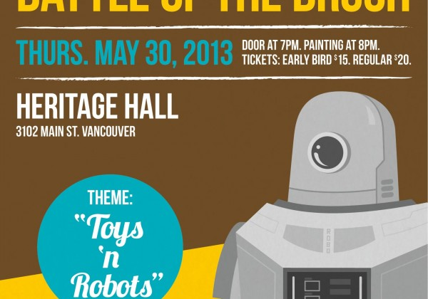 <title>Robot toys</title>Battle of the Brush: New Season III Episode I &#8211; Toys N Robots &#8211; at Heritage Hall